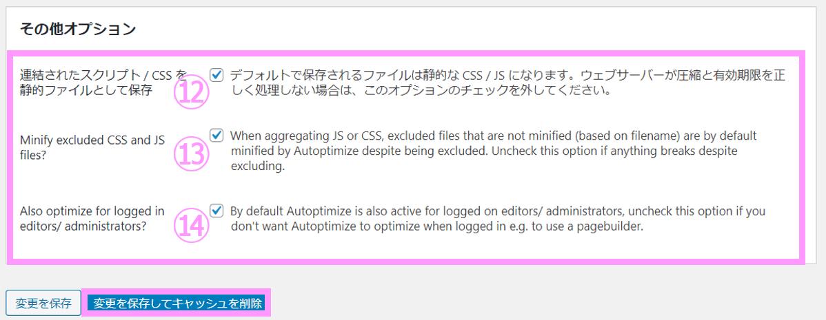 Autoptimize説明画像7