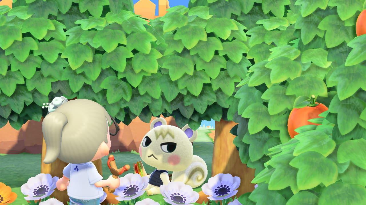 ジュンが木陰で座っている画像