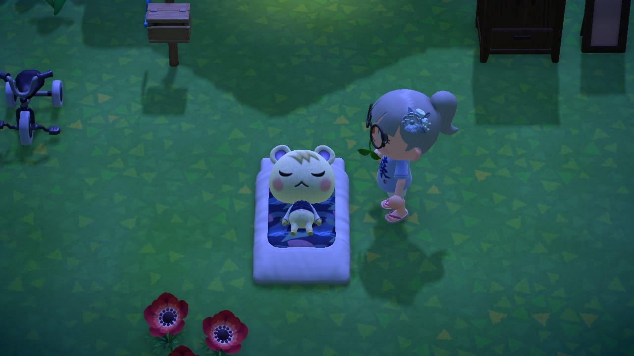 寝ているジュンの画像